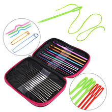 22pcs Crocheted Metal Stainless Steel Bolts Round Knitting Wool Needle Durable Crochet Hooks Set Yarn Craft Tools Kit Size Sets