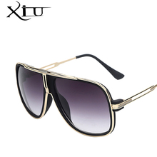XIU Sunglasses Men Summer Style Sunglasses Square Gold Women Brand Designer Sun Glasses Men Oculos De Sol Masculino