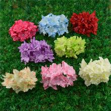 12pcs/lot 4.5cm Cheap Silk Gradient Artificial Lily  Flower Bouquet For Wedding Decoration Diy Wreath Scrapbooking Craft Flower