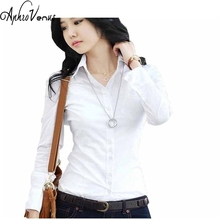 Blusa Feminina Women'S Shirts White Blouse Tops Quality Chiffon Ladies Office Shirts Big Sizes Women Clothing