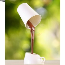 Coffee Night Light DIY LED Table Lamp Home Romantic Pour Coffee Night Light HOT SELL