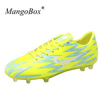 Hard-Wearing Traning Football For Girl Men Football Different Colors Soccer Cleats New Cool Kids Soccer Shoes(China)