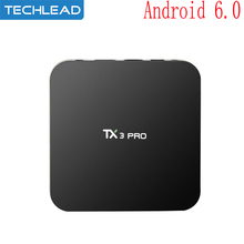 TX3 pro Android 6.0 Smart TV Box wifi media player quad core amlogic s905x network set top box 1G 8GB HD H.265 HEVC 4K Airplay
