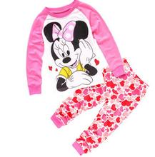 New! kids fashion Minnie pajamas children penguin cotton sleepwear girl's boys batman pyjamas baby dragon nightwear clothing