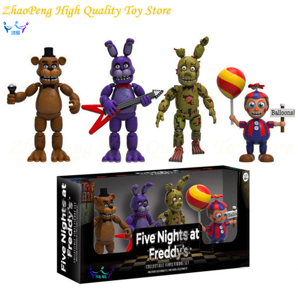2 Patterns 2inch Five Night At Freddys 5 cm Vinyl Figures Cant move Action Figures FiveNight Anime Figures kids toys SE47<br>