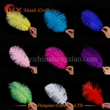Promotional price 11 colors 15-20cm natural purple colored cheap ostrich feathers for weddings decorations and feather decor(China)