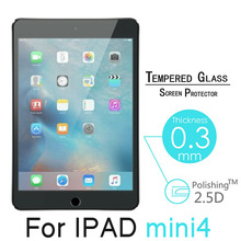 "Delicate touch Tempered Glass For Apple iPad Mini4 Mini 4 7.9"" Tablet PC 9H 0.3mm Film HD Clear Screen Protector Cover527"