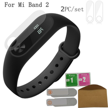 Buy package 2pc/set Ultrathin Anti-explosion Screen Protector Film Xiaomi Mi Band 2 Miband 2 Smart Wristband Bracelet for $15.00 in AliExpress store