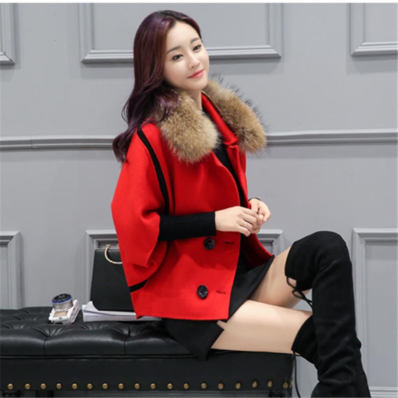 Spring Elegant Women Slim Coat Fur Color Short Sleeve High Quality Streetwear Red Yellow Coat 2018 10 Online shopping Bangladesh