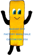 Fast Food Advertising Mascot French Fry Mascot Costume Adult Cartoon Character Party Carnival Plush Mascotte Kit Suit SW895