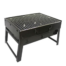 RongYi Outdoor Camping Portable Charcoal BBQ Grill Couple Family Party Barbecue Roasting Brazier Cooking Tool Adjustable Height