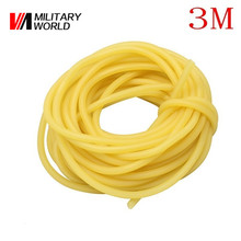 3m 3mm X 5mm Durable Yellow Latex Slingshots Rubber Band for Slingshot Hunting Catapult Elastic Part Fitness Bungee Equipment