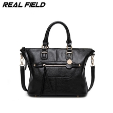Real Field Brand Women Messenger Bags Ombre Tote Shoulder Ladies Leather Hand Bags Pu Leather Crossbody Handbag 139