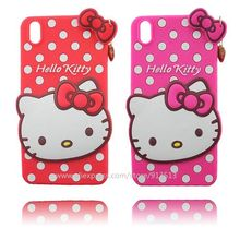 Cartoon Hello Kitty Design 3D Silicone Case Cover For Lenovo S850