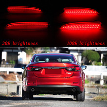 2 pcs Back Turning Light LED Rear Bumper Reflector Brake Stop Light For Mazda6 Atenza Mazda2 DY Mazda 3 Axela