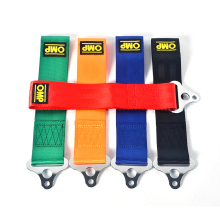 5 Color OMP Towing Rope Nylon Tow Eye Strap Tow Loop Strap Racing Drift Rally Emergency Tool Front Rear Bumper Hook