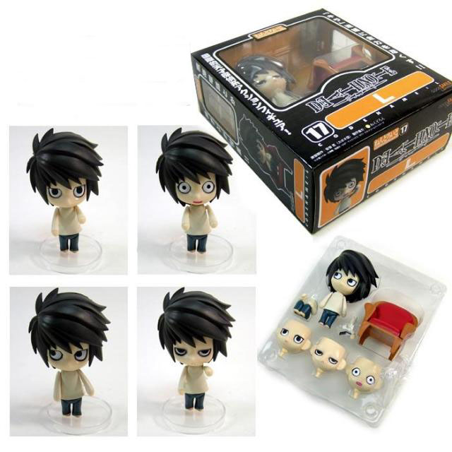 Japanese Amine figure Death Note figma Mini Q Ver L.Lawliet 11cm PVC Action Figure Toys Models Gifts kids toys for boys Figma(China)