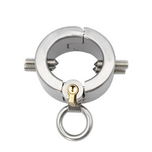 Buy Metal Penis Rings Stainless Steel Cock Cage Male Scrotum Bondage Chastity Slave Adult Games , Fetish Sex Toys Men
