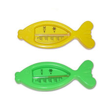 Kids Cute Plastic Floating Fish Toys Bath Tub Water Air Sensor Thermometer Gift(China)
