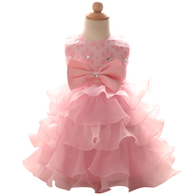 Toddler Girls Princess Dress Party Wear Kids 2017 New Lace Children Wedding Pageant Party Dress Kids Clothes Baby Formal Dress