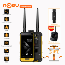 NOMU T18 IP68 Waterproof Walkie Talkie 4G Smartphone Android 7.0 MTK6737T Quad Core 3GB+32GB Quad Core 8MP 5200mAh Mobile Phone(China)