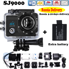 "Russia Delivery Add Two Battery Action Camera hero 4 style Ultra HD 4K@30FPS DVR 16MP 2.0""LCD waterproof 30M Action Cam"