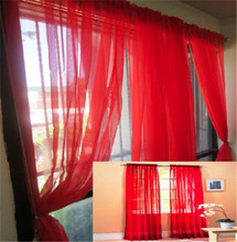 Cheap Window Curtains Modern Curtain Voile Curtains for Living room Solid Colorful Curtains for Bedroom  1pc