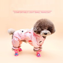 Summer Pet Clothes Teddy Bichon Dog Raincoat Poncho Rain And Sun Legs Dog Clothes Jackets