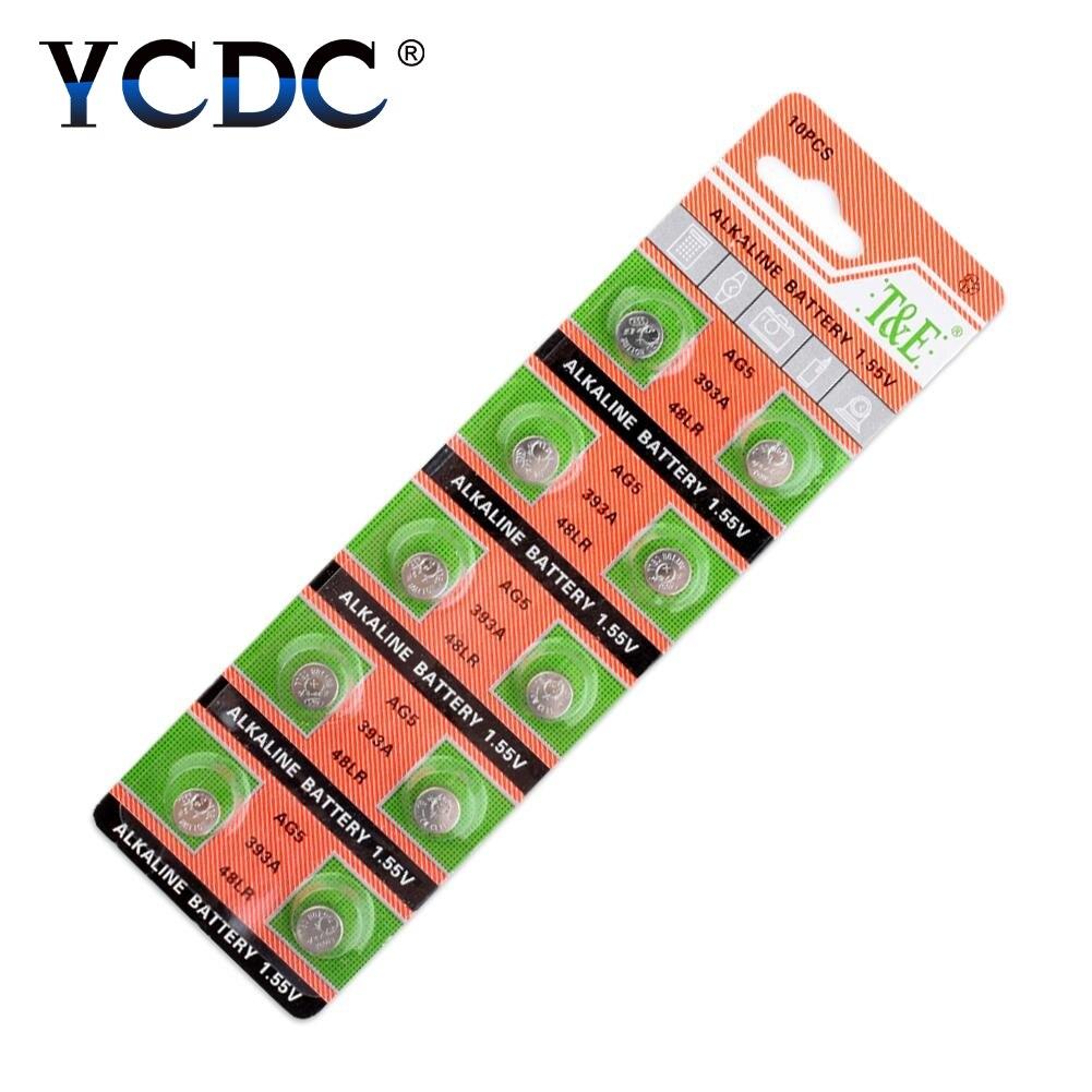 50 AG5 LR754 393 SR754 Alkaline Battery