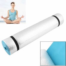 Top Quality 6mm Thick Non-Slip Yoga Mat Exercise Gym Fitness Lose Weight Body Building Meditation Pad Blue Gym Home Indoor 2Size