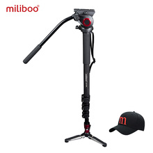 miliboo MTT705B Portable Carbon Fiber Tripod & Monopod for ProfessionalCamera Camcorder/Video/DSLR Stand,Half Price of Manfrotto(China)