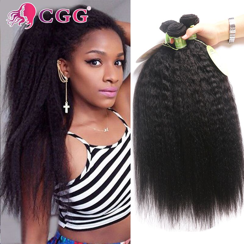 Brazilian Virgin Hair Kinky Straight 4 Pcs Brazilian Hair Weave Bundles Raw Brazilian Kinky Straight Human Hair Weave Extensions<br><br>Aliexpress