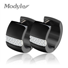 Modyle Luxury Ear Cuff Earring CZ Hoop Earrings with Zircon Stone Women Birthday Gifts(China)