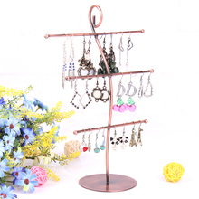 Three layers SS jewelry display earrings holder necklaces stand pendants rack show shelf with nice design good quality