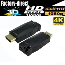 Professional Mini 4K HDMI optical fiber extender up to 300M via qualified multimode / single mode fiber-optic cable