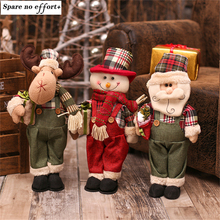 New Year 2017 Cheap Christmas Dolls Large Santa/Snowman Figurine Christmas Gifts/Toys for Girls Christmas Decorations for Home