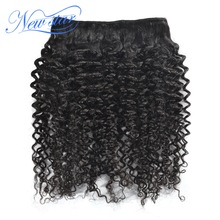 Brazilian Afro Kinky Curly Virgin Hair One Bundles Guangzhou New Star Hair Weaving Unprocessed Natural Color For Black Women(China)