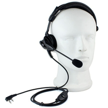XQF New Headset PTT MIC High power Anti-noise Anti-wrestling speaker Headphone for Kenwood  Baofeng UV-5R TG-UV2 two way radio