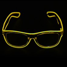 5 Colors el glasses El Wire Fashion Neon LED Light Up Shutter Shaped Glow Rave Costume Party DJ Bright Glasses
