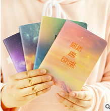 Fantastic Galaxy Star Sky Notebook Diary Book Exercise Composition Notepad Escolar Papelaria Gift Stationery 01619