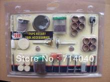 "Free shipping, Brand New 105 Pc Rotary Tool Accessory kit For Dremel grinder 1/8"" NR, factory price"