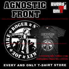 Agnostic Front Band Tribute 100% Cotton T-shirt Tee T clothing(China)