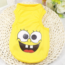 (30pc/lot) Wholesale Pet Dog Summer Cartoon Tshirt Vest Clothes Puppy Cat Apparel Costume Cachorro For Teddy Chihuah F272(China)