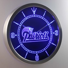 nc0528 New England Patriots Neon Sign LED Wall Clock(China)