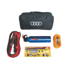 Automotive Emergency Kit Vehicle Rescue Package Battery Line Tow Rope Dry powder fire extinguisher flash light KODOOT 317