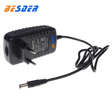BESDER AC 100-240V Input DC 12V 2A Output Power Supply EU Plug Power Adapter Charger For CCTV Security Ip/AHD/Analog Camera