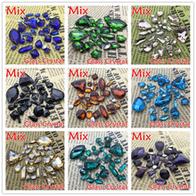 Mix sizes Mix shapes Pointed back glass crystal fancy stones All More Colors Choice perfect for diy design decoration(China)
