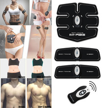 Wireless AB Gymnic Electronic Body Muscle Arm Waist Abdominal Exerciser Massage Machine Exercise Body Toning Belt(China)