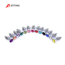 Buy Metal Anal Plug 13 Colors Butt Plugs Toys Sex Toys Women Stainless Steel+Crystal Jewelry Sex Products, Spiral Anal Beads