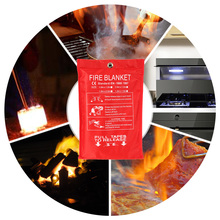 "Fiberglass Fire Blanket Fire Flame Retardant Emergency Survival Fire Shelter Safety Cover 39.3""(China)"